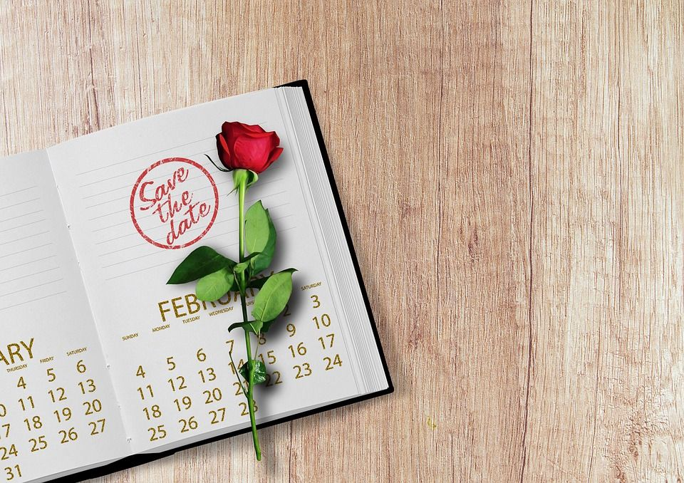 calendar with rose