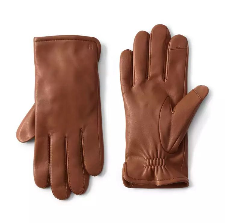 Lands' End Leather Gloves