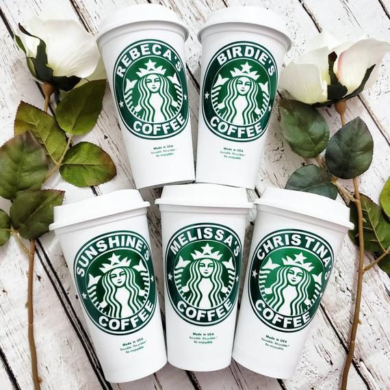 Personalized Reusable Starbucks Coffee Cup